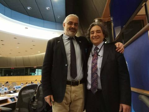 Prof. Ricardo Serrao Santos MEP with Dr Christos Arvanitidis, HCMR
