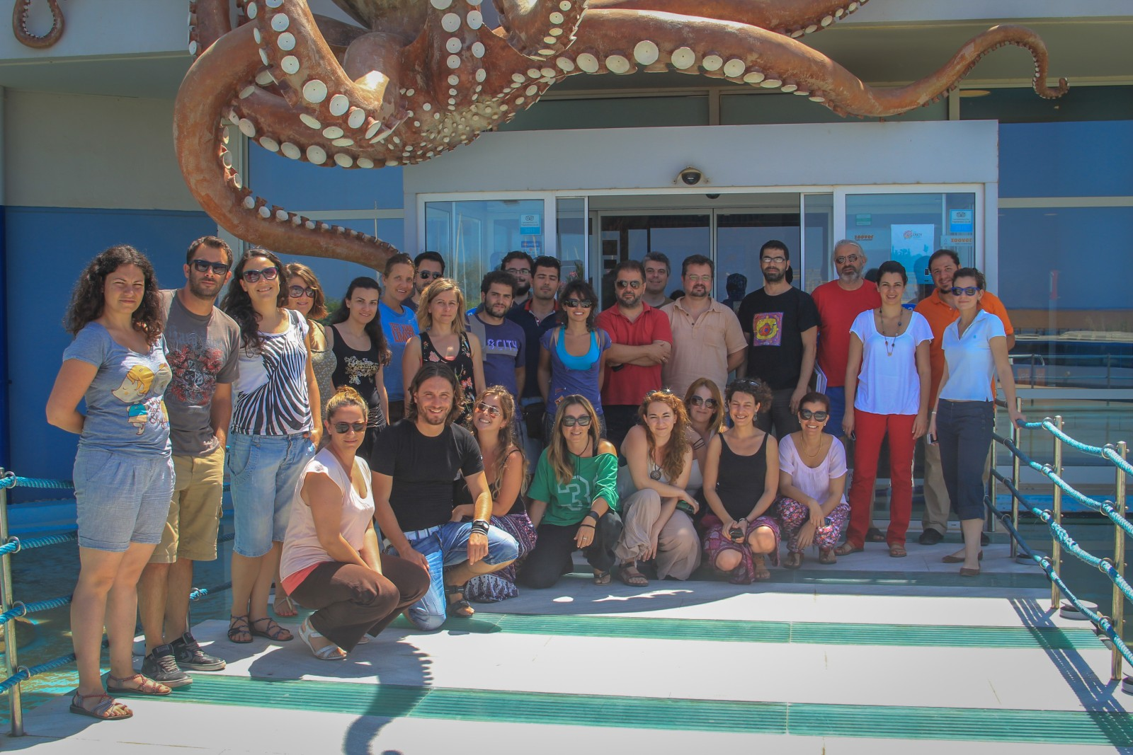 Photo of the participants in the 1st LifeWatchGreece RI Data Management Workshop, HCMR Crete 2014. Photo by Mrs. Wanda Plaiti
